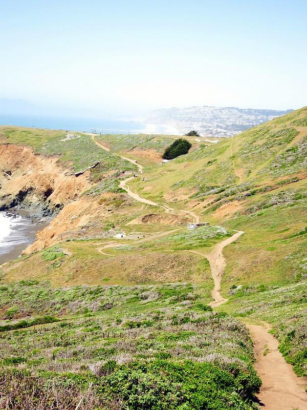 The path away from Muir Beach