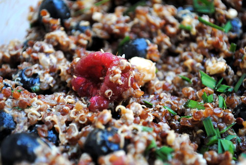 Red, White & Blue(berry) Quinoa Salad
