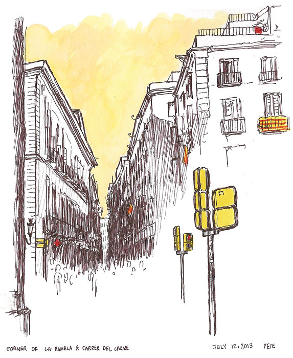 La Rambla & Carrer del Carme