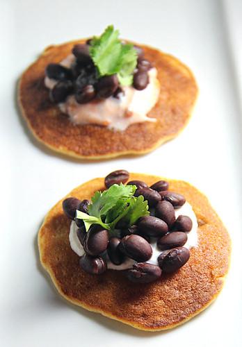 Thanksgivukkah corn pancakes