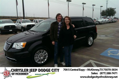 Thank you to Kevin Bower on your new van from Joe Ferguson  and everyone at Dodge City of McKinney! #NewCarSmell by Dodge City McKinney Texas