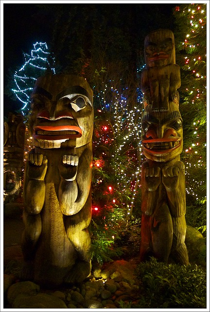 Christmas lights at Capilano Suspension Bridge