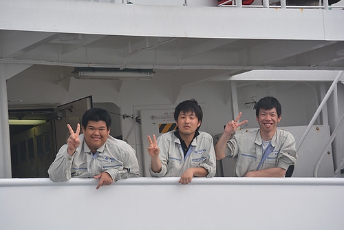 friendly Tosakaien Maru crew