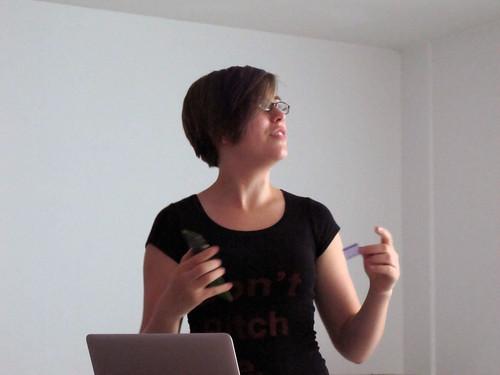 Alex Glowaski presenting on 'NFC for Wearables'