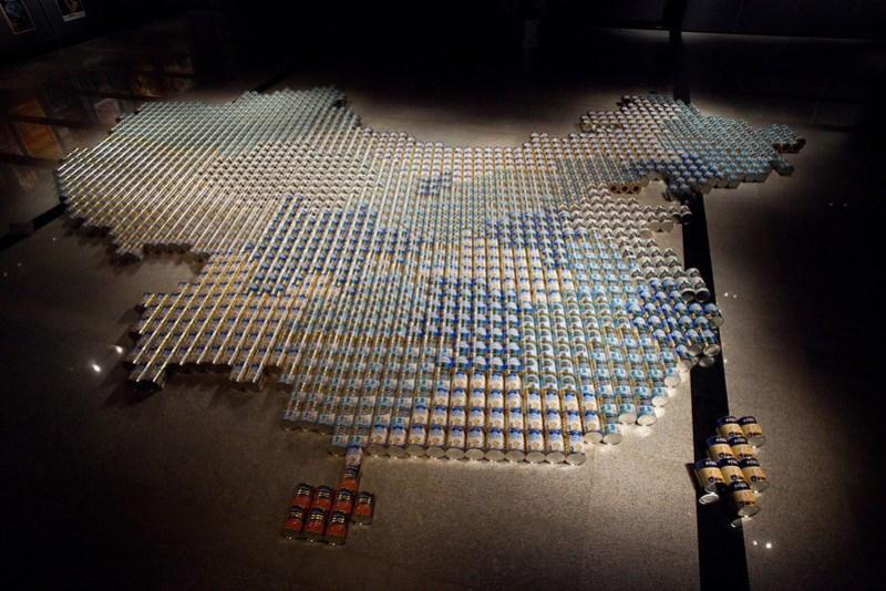 Ai Weiwei milk cans