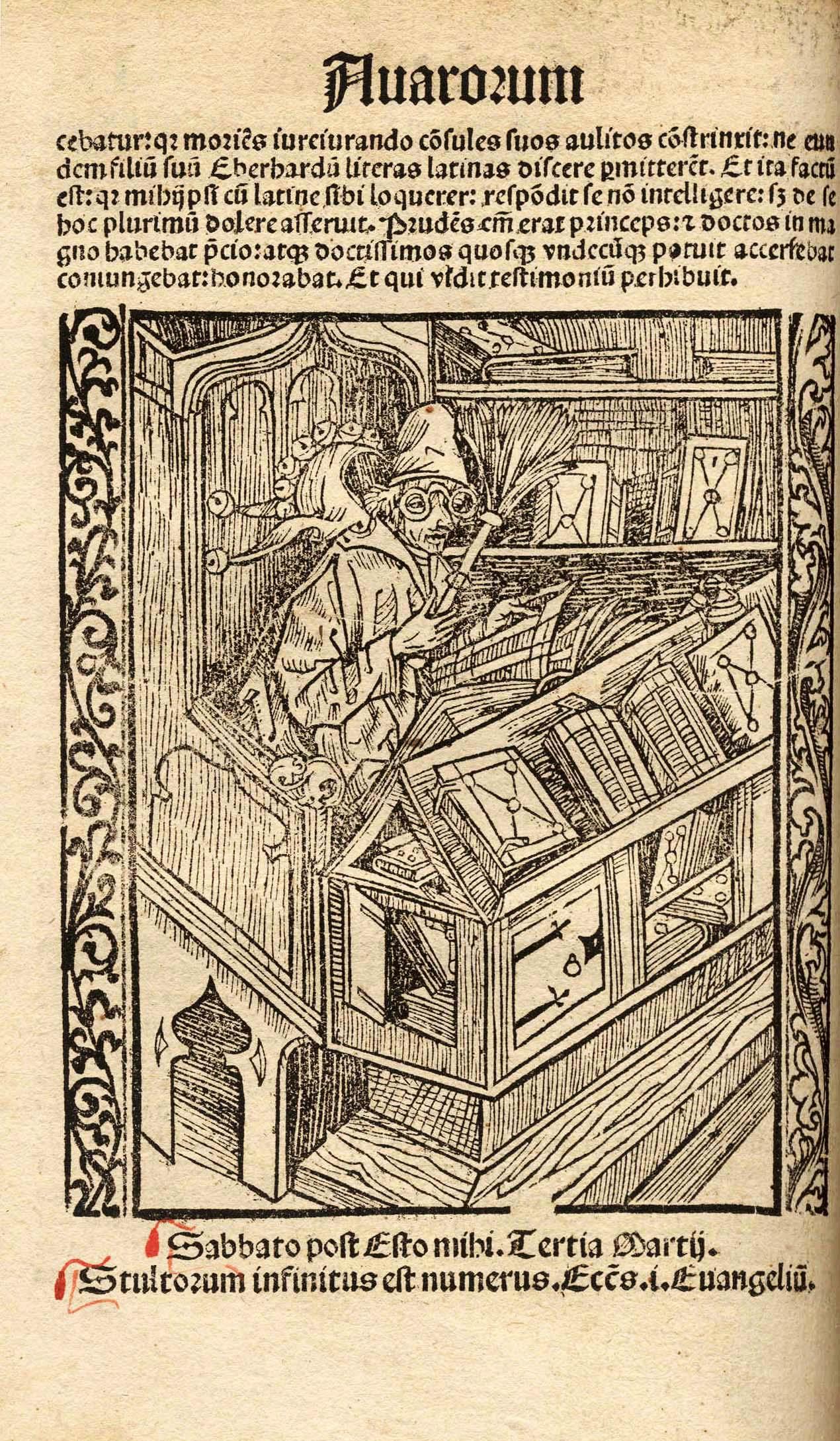 Johannes Geiler von Kaysersberg, Navicula sive Speculum fatuorum. Straßburg, 1510