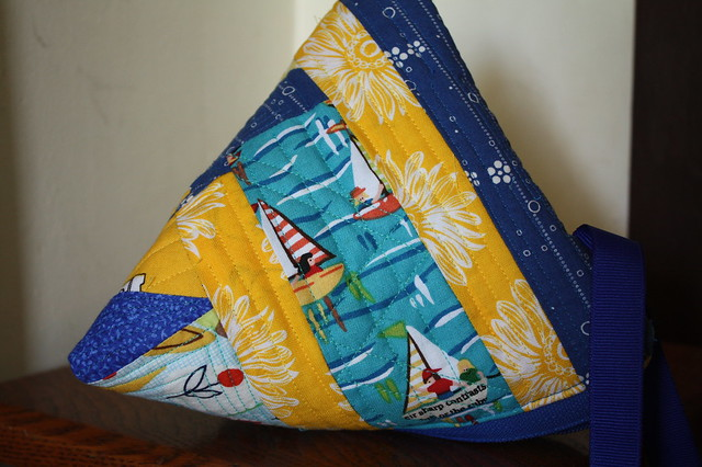 Blue & Yellow Samosa Purse for Pookie