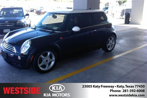 Thank you to Sandra  Badger on your new 2006 #Mini #Cooper Hardtop from Orlando Baez and everyone at Westside Kia! #BrandNewRide by Westside KIA