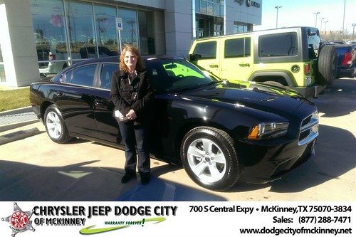 Thank you to Sandra Worthington on your new 2014 #Dodge #Charger from Joe Ferguson  and everyone at Dodge City of McKinney! #NewCar by Dodge City McKinney Texas