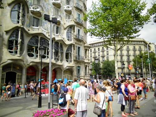 Turisti a Barcellona