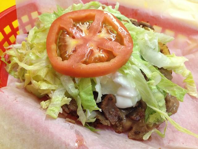 Carne asada tostada - El Farolito