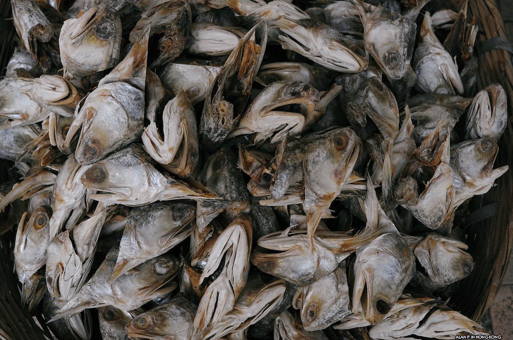 Dried fish head