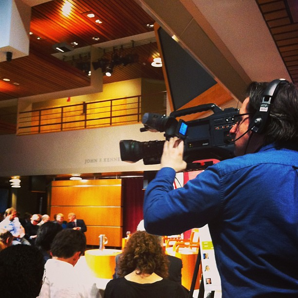 Media covering the media talking about the media #riptide #media #harvard #journalism