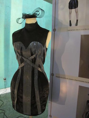 Rachael's fab fibre optic dress