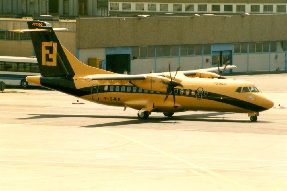 Air Dolomiti, ATR 42-500, F-OHFN, Fendi livery, Frankfurt Main