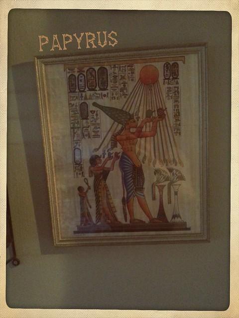 Papyrus på väggen