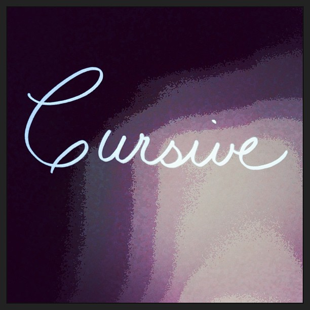 June 10 - cursive {of handwriting; in flowing  strokes with the letters joined together} it's been a long time since I've written in 'cursive' script. #photoaday #handwriting