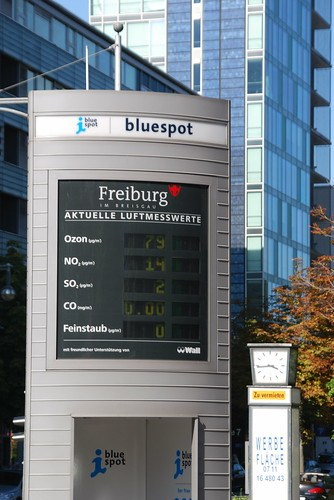 Air pollution monitoring station in Freiburg