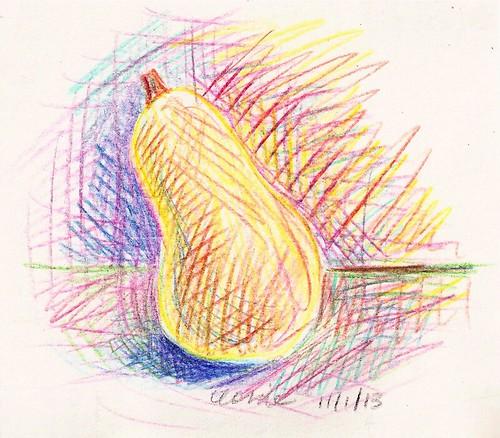 2013-11-01-butternutsquash (NaNoDrawMo #2)