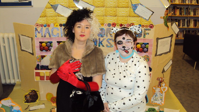 Cruella and Dalmatian AKA Joanne and Angela