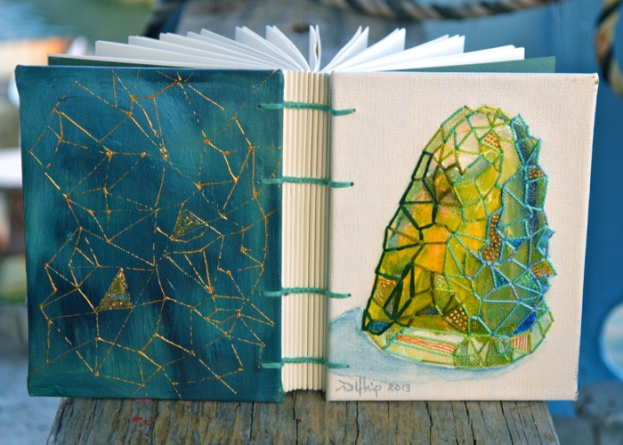 green gemstone journal
