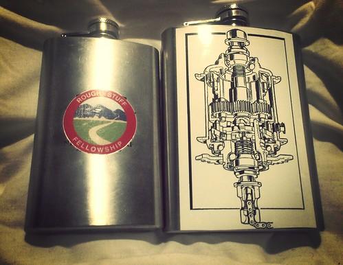 "Custom ""bicycle"" flasks. by urbanadventureleaguepdx"