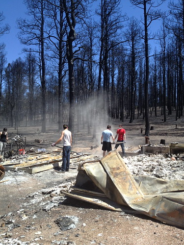 Using Red Cross sifters in Black Forest, Colorado