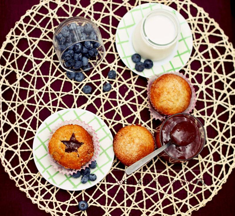 Desayuno magdalenas arándanos. Vreakfast bluberries muffins