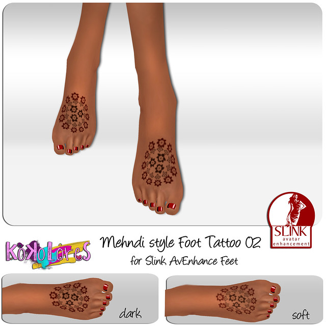 [KoKoLoReS] Mehndi style Foot Tattoo 02