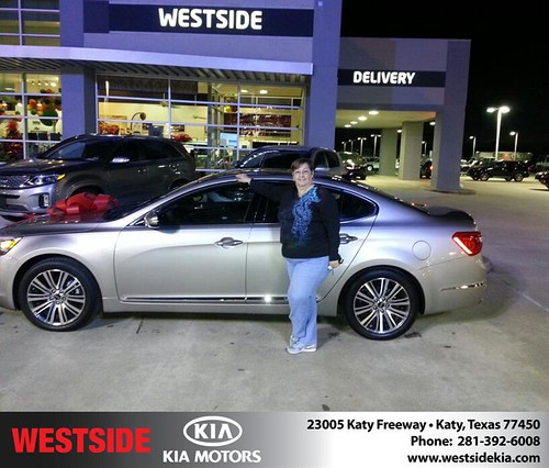 Thank you to Ethel Mctigue on your new 2014 #Kia #Cadenza from Rubel Chowdhury and everyone at Westside Kia! #NewCarSmell by Westside KIA