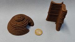 3D printed Mars simulant