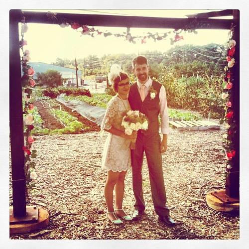 20130907. Us! Married! At South Circle Farm.