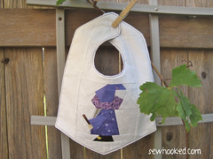 Wise Old Wizard Reversible Bib, front