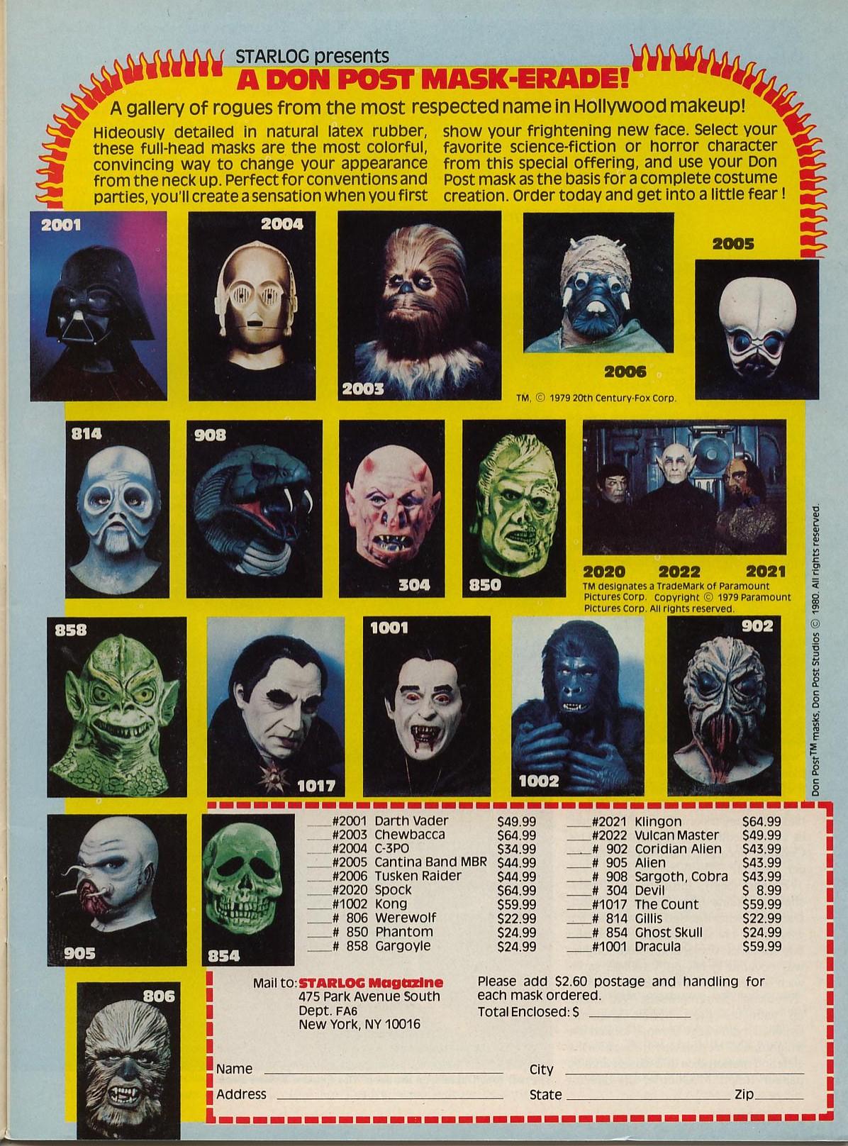 Don Post masks