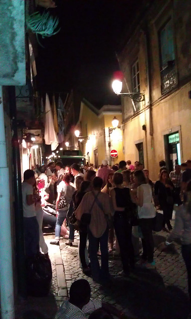 Lisbon, Portugal nightlife.