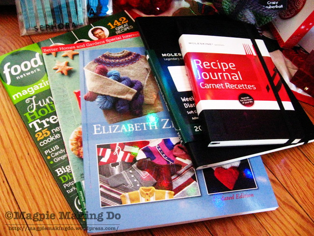 recipe journal and books
