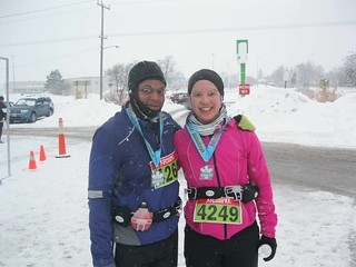 Arlene and Mei after the race.