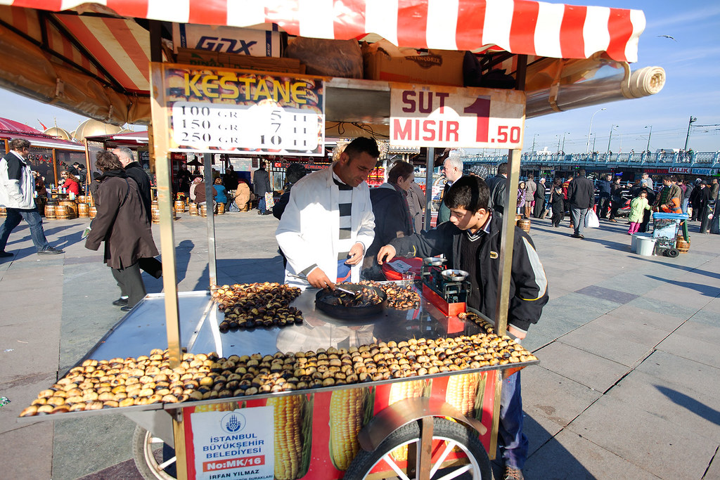 Food vendor at the Ferry Terminal, Istanbul.