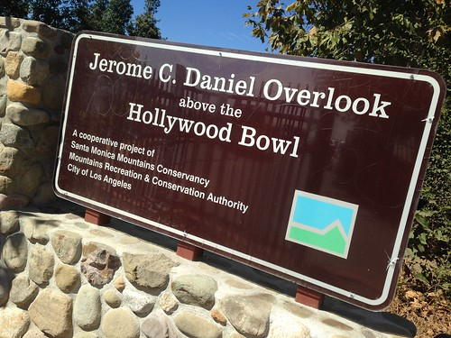 Jerome C. Daniel Overlook above the Hollywood Bowl