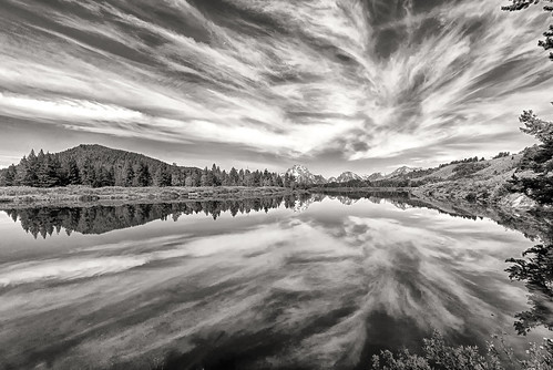 Oxbow Bend in Black and White
