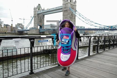Guinness World Record attemptees photocall for Virgin London Marathon