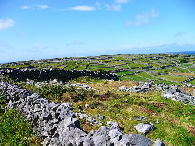 Dry stone walls on Inis Oirr, Ireland