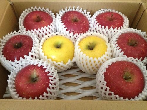 江刺リンゴのさんフジとシナノゴールド