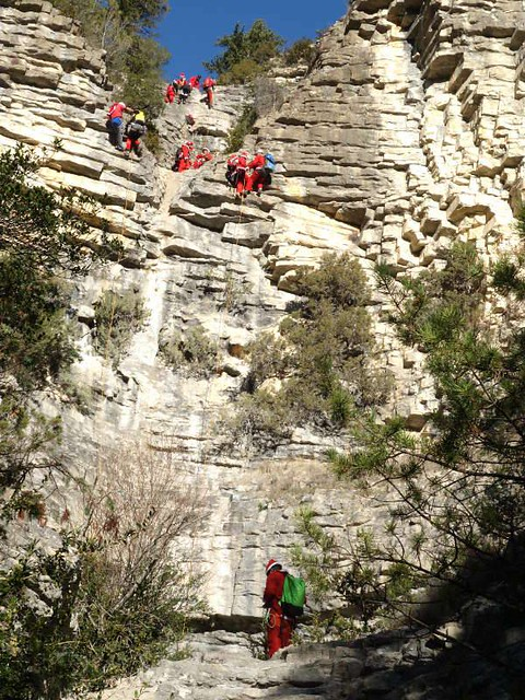 descente en canyon des pères et mères noel à touet sur var