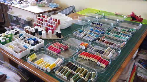 thread sorting begins