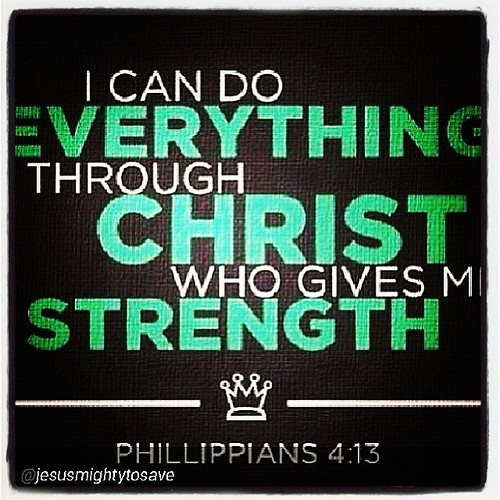 I can do all things through Christ who strengthens me. #jesus #amen