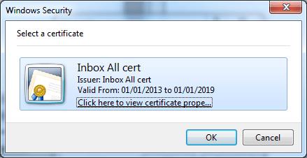 คลิกเลือก Certificate ที่เราสร้างไว้เมื่อกี้ (โดยปกติแล้ว ควรจะมีแค่อันเดียวให้เลือกนี่แหละ)