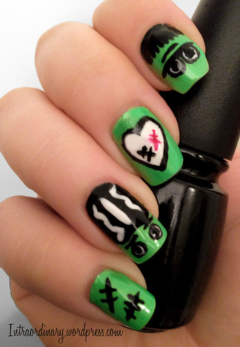 Frankenstein Nails by intraordinary