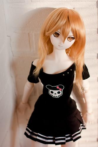Tsukiko in Murasaki.me x Charuca shirt