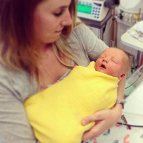 Holding my baby nephew